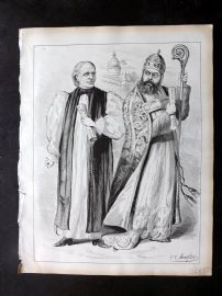 E. C. Mountfort - Dart 1880's Political Cartoon. Satire on Religion